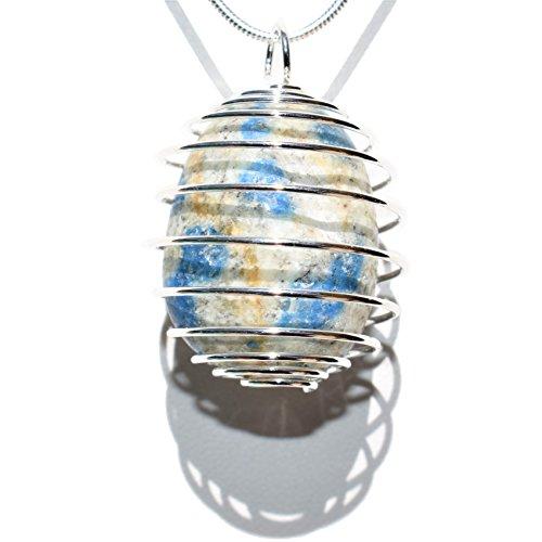 Zenergy Gems Perfect Pendant CHARGED Natural K2 Tumbled Stone Specimen Crystal Pendant + 20