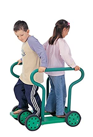 Kiddies Paradise Twin Walker Bikes and Trikes - 26 x 21 x 28 inches - Green
