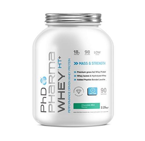 PhD Nutrition Pharma Whey HT+ Whey Protein powder, 2.2 kg, Chocolate Mint