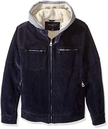 Blue Suede Jacket - Urban Republic Men's Boys Trendy Pu Suede Jacket, Blue, L
