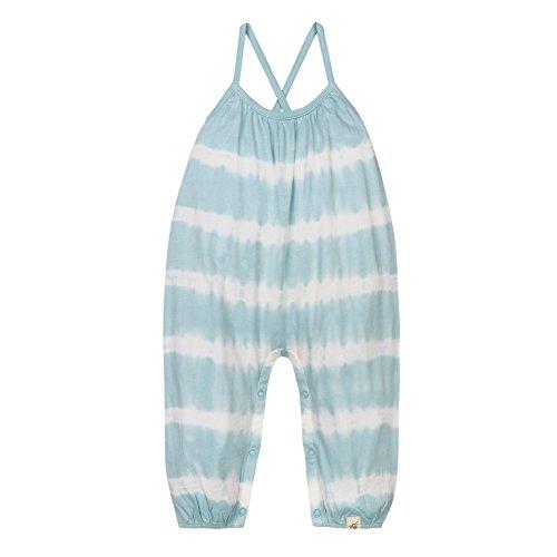 Burt's Bees Baby Girls' Organic Tank Romper, Geyser Tie Dye, 3-6 Months