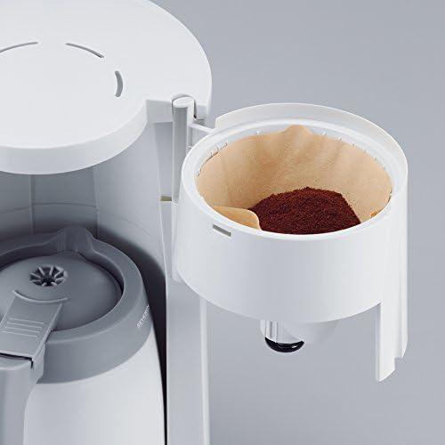 8 tazas incluye jarra termo SEVERIN KA 4114 Cafetera para filtros de Caf/é Molido blanco//gris