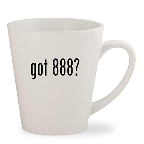 got 888? - White 12oz Ceramic Latte Mug Cup