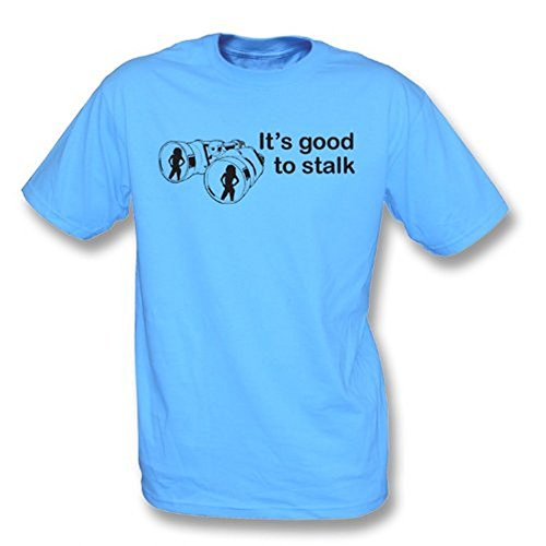 TshirtGrill Es ist gut, T-Shirt anzupirschen, Farbe- Himmel-Blau