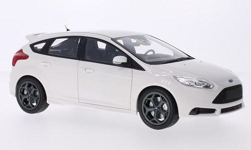 Ford Focus MkIII ST, white, 2011, Model Car, Ready-made, Minichamps 1:18 (Ford Focus Model compare prices)
