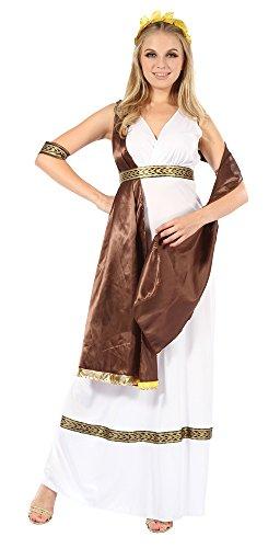 Ladies Goddess With Brown Sash Costume