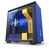 NZXT H700i Ninja Edition - Mid Tower Gaming PC Case, Upto E-ATX, CAM-Powered Smart Hub with RGB LED Strip, 1x 140mm Fan, 3x 120mm Fan - CA-H700W-NJ