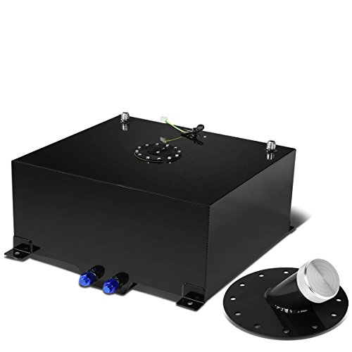 20-Gallon Black Fuel Cell Gas Tank & Black Cap+45-Degree Fast Fill Neck (Black) (20 Gallon Fuel Tank)