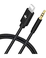 KingOne Cable Aux Phone, 3 pies Aux para Teléfono con Conector Stereo Cable para Phone 7/7 +/8/8 +/X y Otros Dispositivos con Connector Compatible para Phone …