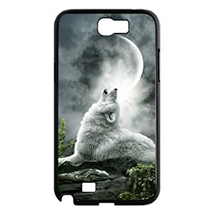 LZHCASE Diy Design Back Case Wolf Howling for Samsung Galaxy Note 2 N7100 [Pattern-1]