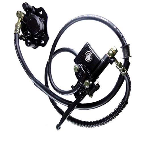 Triumilynn Rear Hand Hydraulic Disc Brake Master Cylinder Caliper Assembly with Pads for 50cc 70cc 90cc 110cc 125cc ATV Quad Taotao Sunl Roketa NST