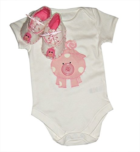 Pig Baby Shoes and Bodysuit