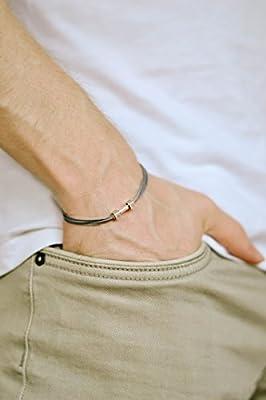 Dumbbell bracelet, Mens bracelet, gray bracelet for men, silver barbell bodybuilding jewelry, gift for him, weight lifting crossfit fitness