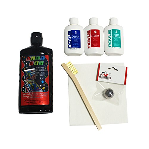 Game Room Guys Pinball Machine Deluxe Cleaning Kit Mill Wax Novus Deluxe Game Cleaning Kit