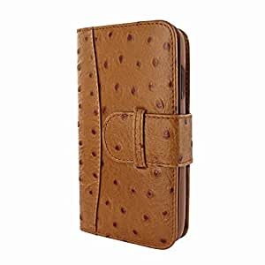 Piel Frama 793 Tan Ostrich WalletMagnum Leather Case for Apple iPhone X