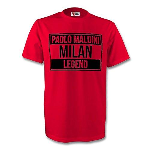 Paolo Maldini Ac Milan Legend Tee (red) B07D8P8B21Red XXL (50-52\