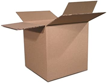 """25 6/"""" X 6/"""" X 6/"""" Packing Moving Shipping Cardboard Corrugated Boxes Cartons White"""