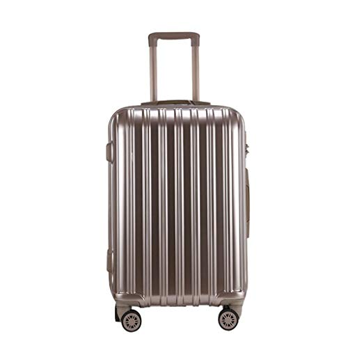 HFY Trolley Case Fashion Aluminum Frame Luggage 360° Aircraft Wheel Steering Smooth Wearable Silent Silver Rose Gold Champagne Gold Tricolor 20 (35 22 56) ()