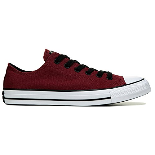 Converse All Star Ox Fashion tela, rosso (Back Alley Brick/White/Black), 40 EU B (M) Donne/44 EU D (M) Uomini