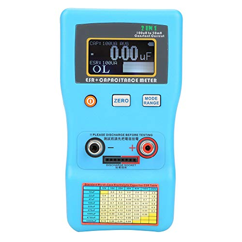 (Capacitor Meter,Akozon MEC-100 High Precision Digital Display Automatic Range Electrolytic Capacitance ESR Meter)