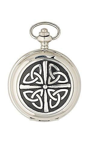 Sgian Dubh Co Triquetra Celtic Knot 17 Jewel Full Hunter Mechanical Scottish Pocket Watch PW101M