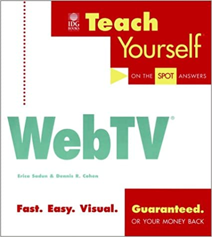 Epub Download Teach Yourself WebTV (Teach Yourself (IDG))