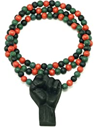 Power Fist All Natural Wood Pendant Necklace