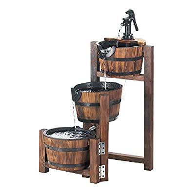 Zingz and Thingz Apple Barrel Cascading Fountain