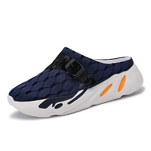 BARKOR Garden Shoes Mens Womens Clogs Ultra Light Summer Aqua Breathable Comfort Slippers Outdoor Unisex Water Shoes Non-Slip Navy-41 by BARKOR