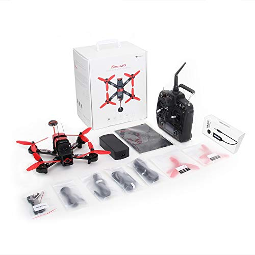 HobbyFlip FPV Racing Drone Kit RTF Quadcopter Devo 7 OSD F215 RTF DEVO7 Compatible for Walkera Furious 215 ()