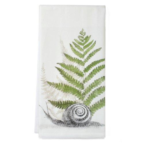 Montgomery Street Snail and Fern Cotton Flour Sack Dish - Printed Fern
