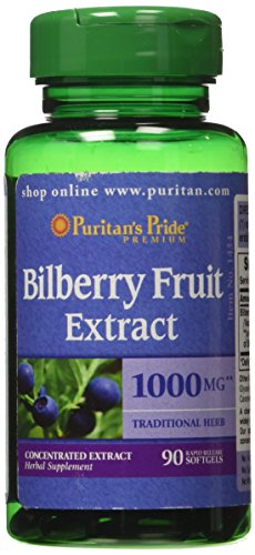 Puritans Pride Bilberry Extract Softgels product image