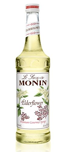 Monin Elderflower Syrup Bottle, 750 mL