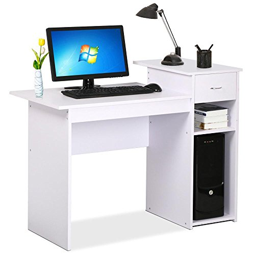 go2buy Small Spaces Home Office Computer Desk with Drawers a