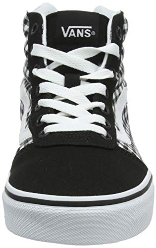 Black Negro gingham Ward Para Hi Mujer Vans Altas Zapatillas 1yn Canvas zqwTgP
