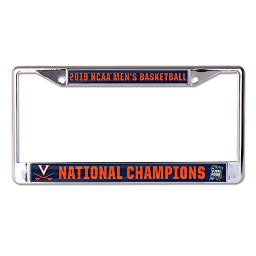WinCraft Virginia Cavaliers 2019 National Basketball Champions Metal License Plate Frame