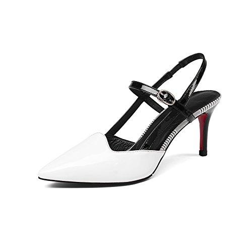 Sandalias s La Al Hæle Tobillo Tacones Hvid Mujer Ankel Spidse Mei Señaló Tå Kvinder White Mei Sandaler Toe S Y1pwndYq