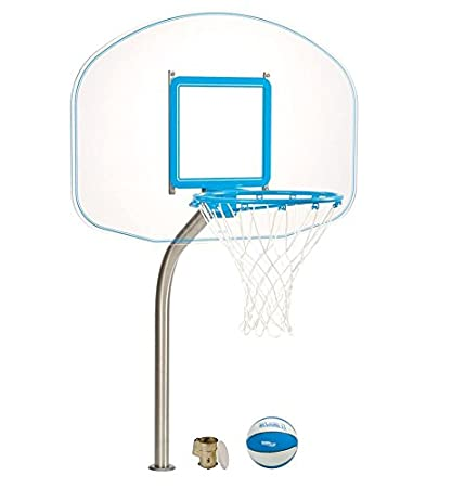 Amazon.com : Dunnrite Deck Mounted Clear Hoop Pool Basketball Hoop ...