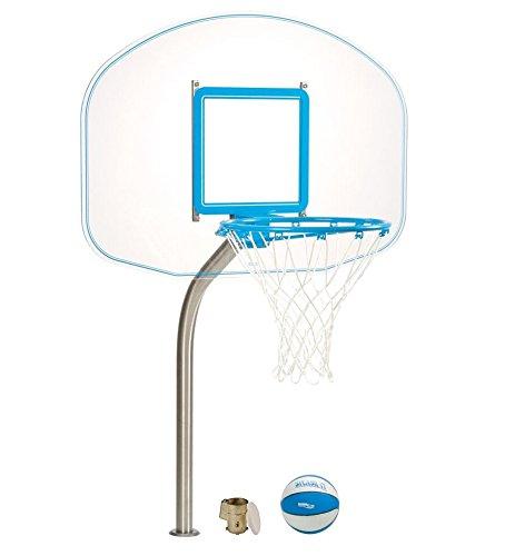 (Dunnrite Deck Mounted Acrylic Pool Basketball Hoop)