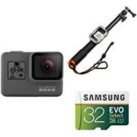 GoPro HERO5 Black w/ Selfie Stick and Memory Card