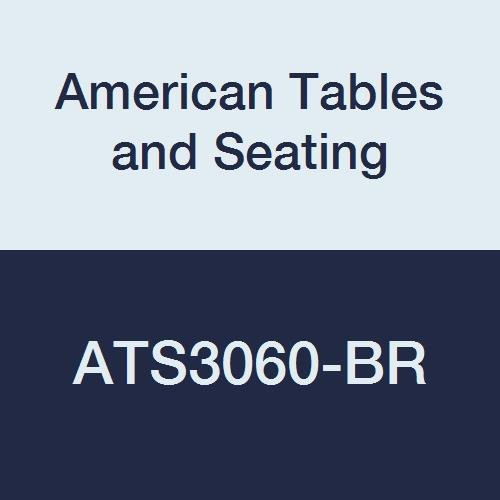 Standard Wilsonart Laminate (American Tables & Seating ATS3060-BR Vinyl T-Molding Laminate Table Top, Polyethylene T-Mold Edge, Standard Wilsonart Laminate, 60