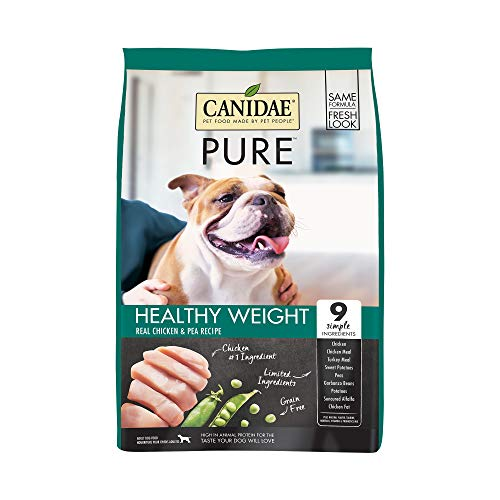 CANIDAE PURE HEALTHY WEIGHT Real Chicken & Pea Recipe Dry Dog Food 24 lbs (Best Diet For Staffordshire Bull Terrier)