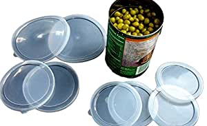6 Piece Large Medium small Plastic Can Cover Also For Pet Cat Dog Food (Save Food Fresh, Tight Seal)