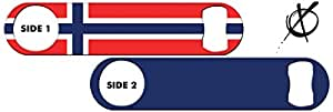 Inked Bottle Opener Flag: Norway