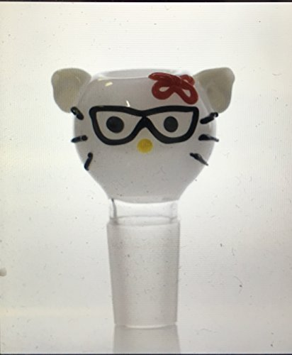 Scientific Glass 14MM BOWL SEXY CAT FACE WITH GLASSES - Glasses Smiley