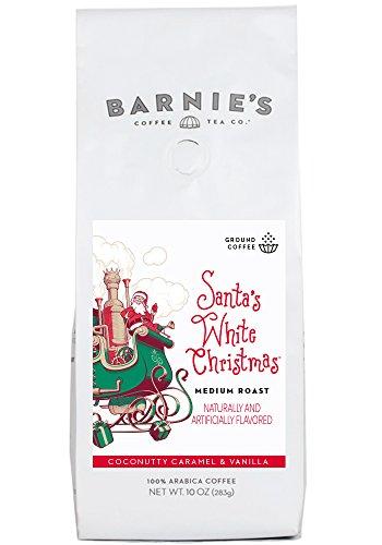 - Barnie's Coffee & Tea Santa's White Christmas, Ground Coffee, Medium Roast, Arabica Coffee, 10oz Bag