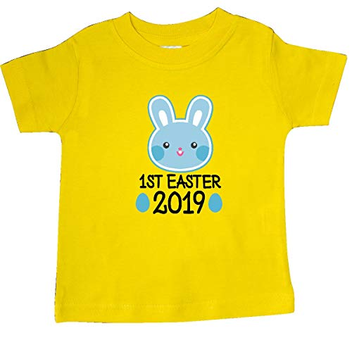 - inktastic - 1st Easter 2019 Boys Bunny Rabbit Baby T-Shirt 6 Months Yellow 2e945
