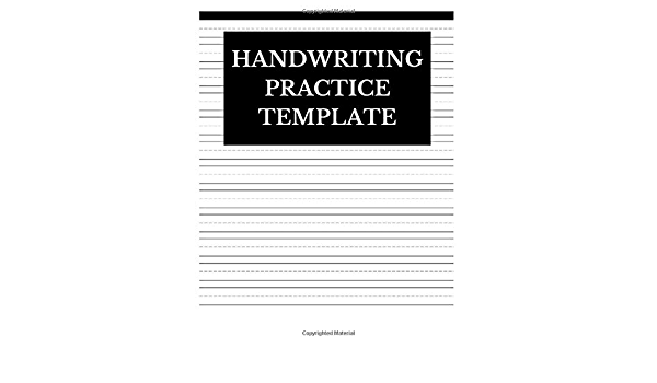 Handwriting Practice Template: Lined Journal Notebook To Write In:  Journals, Centric: 9781076858153: Amazon.com: Books