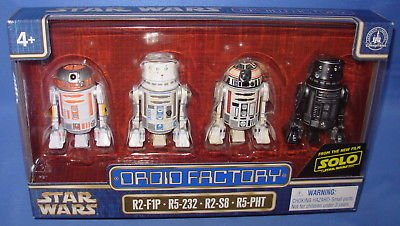 Star Wars 2018 Disney Parks Star Wars SOLO Droid Factory Set of 4