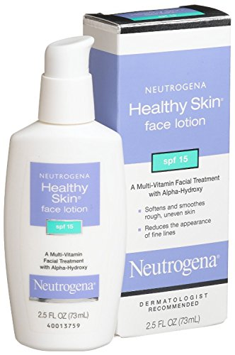 Neutrogena Healthy Skin Face Lotion, SPF 15, 2.5 Ounce (Pack of 3)